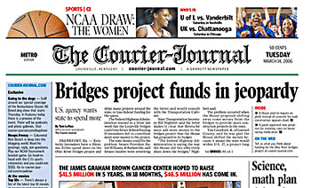 Today's Courier-Journal Front Page