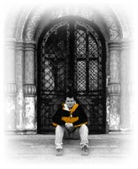 Yours truly at the Kremlin in '99