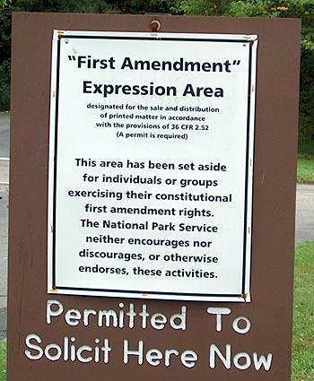 National Park Free Speech Sign