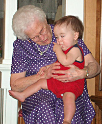 Aunt Nancy with my son in 2005