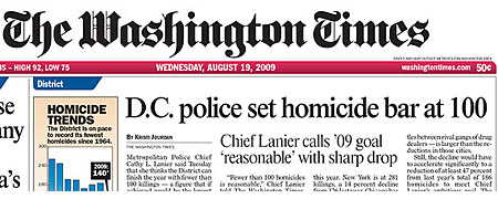 D.C. POLICE SET HOMICIDE BAR AT 100